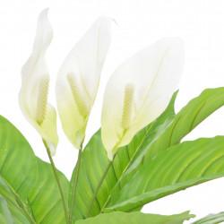 Sonata Изкуствено растение антуриум със саксия, бяло, 55 см - Изкуствени цветя