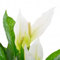 Sonata Изкуствено растение антуриум със саксия, бяло, 90 см - Изкуствени цветя