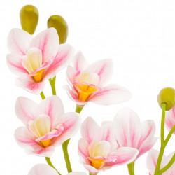 Sonata Изкуствено растение орхидея със саксия, розово, 90 см - Изкуствени цветя