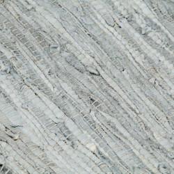Sonata Ръчно тъкан Chindi килим, кожа, 80x160 см, светлосиво и черно - Килими, Мокети и Подложки