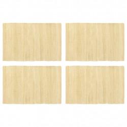 Sonata Подложки за хранене, 4 бр, Chindi, бежови, 30x45 см, памук - Кухненски аксесоари и прибори
