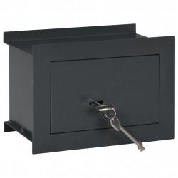 Sonata Стенен сейф, тъмносив, 26x16x18 см - Мебели от метал