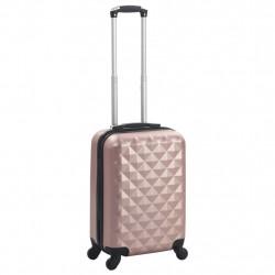 Sonata Твърд куфар с колелца, розово злато, ABS - Куфари и Чанти