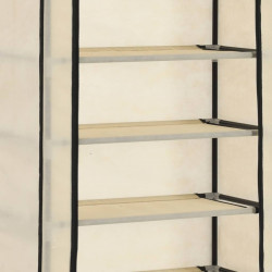 Sonata Шкаф за обувки с покривало, кремав, 57x29x162 см, плат - Шкафове за обувки
