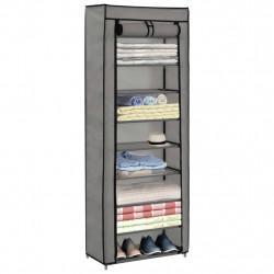 Sonata Шкаф за обувки с покривало, сив, 57x29x162 см, плат - Шкафове за обувки
