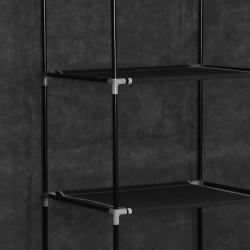 Sonata Гардероб с отделения и лостове, черен, 150x45x175 см, плат - Гардероби