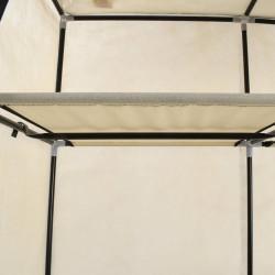 Sonata Гардероб с отделения и лостове, кремав, 150x45x175 см, плат - Гардероби