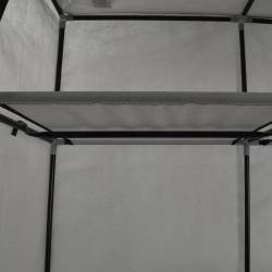 Sonata Гардероб с отделения и лостове, сив, 150x45x175 см, плат - Гардероби