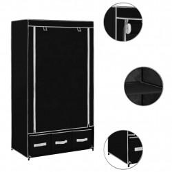 Sonata Гардероб, черен, 87x49x159 см, текстил - Гардероби
