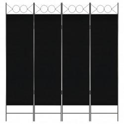 Sonata Параван за стая, 4 панела, черен, 160x180 см - Аксесоари за Всекидневна
