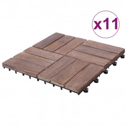 Sonata Декинг плочки, 11 бр, 30х30 см, регенерирано дърво масив - Подови настилки