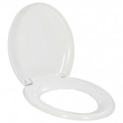 Sonata Тоалетна седалка, плавно затваряне, бърз монтаж/демонтаж, бяла - Продукти за баня и WC