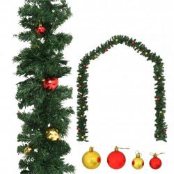 Sonata Коледен гирлянд, декориран с топки, 5 м - Сезонни и Празнични Декорации