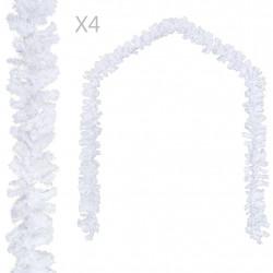 Sonata Коледни гирлянди, 4 бр, бели, 270 см, PVC - Сезонни и Празнични Декорации