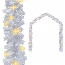 Sonata Коледен гирлянд с LED лампички, 5 м, бял - Сезонни и Празнични Декорации