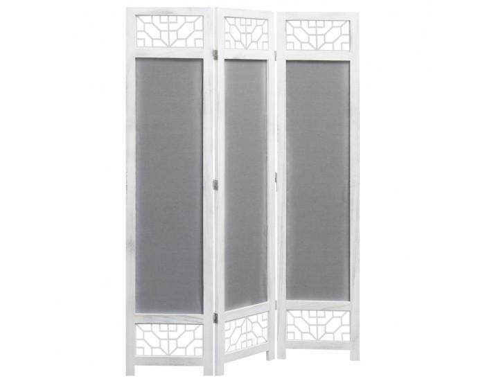 Sonata Параван за стая, 3 панела, сив, 105x165 cм, текстил