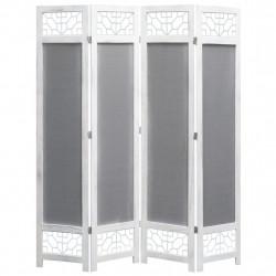 Sonata Параван за стая, 4 панела, сив, 140x165 cм, текстил - Аксесоари за Всекидневна