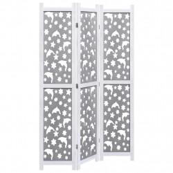 Sonata Параван за стая, 3 панела, сив, 105x165 cм, масивна дървесина - Аксесоари за Всекидневна