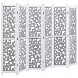 Sonata Параван за стая, 6 панела, сив, 210x165 cм, масивна дървесина - Аксесоари за Всекидневна