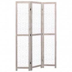 Sonata Параван за стая, 3 панела, бял, 105x165 cм, масивна дървесина - Аксесоари за Всекидневна