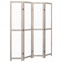 Sonata Параван за стая, 4 панела, бял, 140x165 cм, масивна дървесина - Аксесоари за Всекидневна