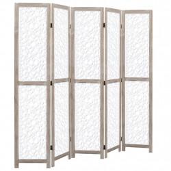 Sonata Параван за стая, 5 панела, бял, 175x165 cм, масивна дървесина - Аксесоари за Всекидневна