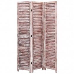 Sonata Параван за стая, 3 панела, кафяв, 105x165 cм, дърво - Аксесоари за Всекидневна