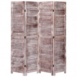 Sonata Параван за стая, 4 панела, кафяв, 140x165 cм, дърво - Аксесоари за Всекидневна
