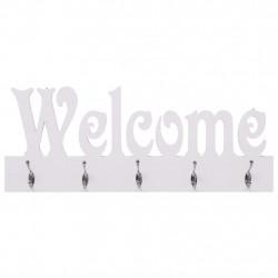 Sonata Стенна закачалка за палта WELCOME, бяла, 74x29,5 см - Закачалки