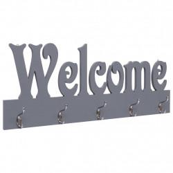Sonata Стенна закачалка за палта WELCOME, сива, 74x29,5 см - Закачалки