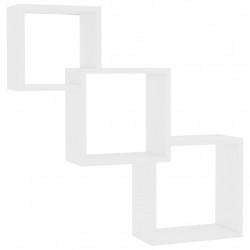 Sonata Квадратни стенни рафтове, бели, 84,5x15x27 см, ПДЧ - Етажерки