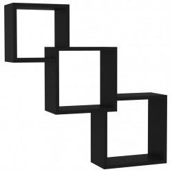 Sonata Квадратни стенни рафтове, черни, 84,5x15x27 см, ПДЧ - Етажерки