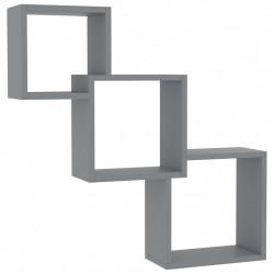 Sonata Квадратни стенни рафтове, сиви, 84,5x15x27 см, ПДЧ - Етажерки