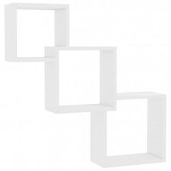 Sonata Квадратни стенни рафтове бяло със силен гланц 84,5x15x27 см ПДЧ - Етажерки