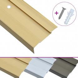 Sonata Г-образни ръбове за стъпала, 15 бр, алуминий, 90 см, златисти - Панели и Детайли