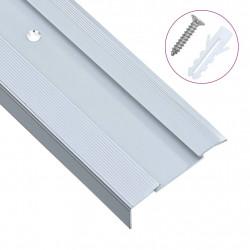 Sonata Г-образни ръбове за стъпала, 15 бр, алуминий, 90 см, сребристи - Панели и Детайли