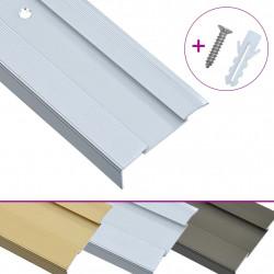 Sonata Г-образни ръбове за стъпала, 15 бр, алуминий, 134 см, сребристи - Панели и Детайли
