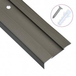 Sonata Г-образни ръбове за стъпала, 15 бр, алуминий, 100 см, кафяви - Панели и Детайли