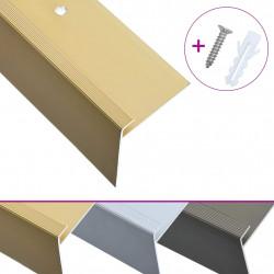 Sonata F-образни ръбове за стъпала, 15 бр, алуминий, 134 см, златисти - Панели и Детайли