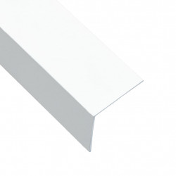 Sonata Г-образни профили 90° 5 бр алуминий бели 170 см 30x30 мм - Панели и Детайли