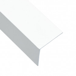 Sonata Г-образни профили 90° 5 бр алуминий бели 170 см 50x50 мм - Панели и Детайли