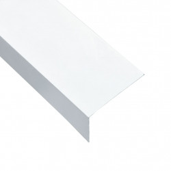 Sonata Г-образни профили 90° 5 бр алуминий бели 170 см 60x40 мм - Панели и Детайли