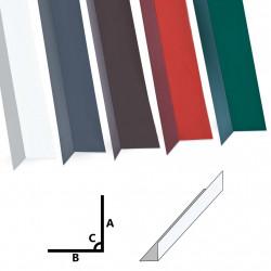 Sonata Г-образни профили 90° 5 бр алуминий бели 170 см 100x50 мм - Панели и Детайли