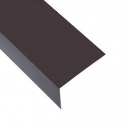 Sonata Г-образни профили 90° 5 бр алуминий кафяви 170 см 60x40 мм - Панели и Детайли