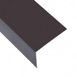 Sonata Г-образни профили 90° 5 бр алуминий кафяви 170 см 100x50 мм - Панели и Детайли