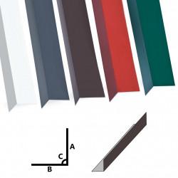 Sonata Г-образни профили 90° 5 бр алуминий кафяви 170 см 100x100 мм - Панели и Детайли