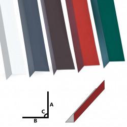 Sonata Г-образни профили 90° 5 бр алуминий червени 170 см 100x100 мм - Панели и Детайли