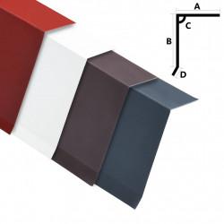Sonata Странични ръбове за покрив 5 бр алуминий червени 170 см - Панели и Детайли