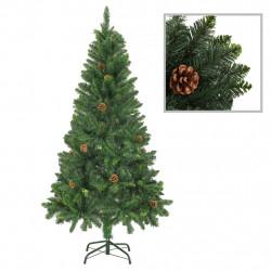 Sonata Изкуствено коледно дърво с шишарки, зелено, 150 см - Сезонни и Празнични Декорации