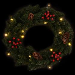 Sonata Коледни венци с декорация, 2 бр, зелени, 45 см - Сезонни и Празнични Декорации